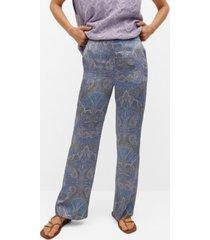 mango paisley print pants