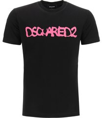 dsquared2 t-shirt with neon logo