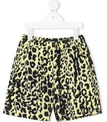 molo animal-print shorts - yellow
