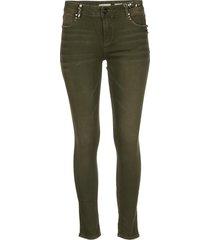 broek met glinsterende details katy  groen