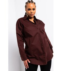 akira plus step into my office long sleeve button down shirt