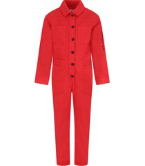 givenchy red jumpsuit with logo for girl