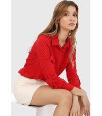 camisa rojo-blanco active
