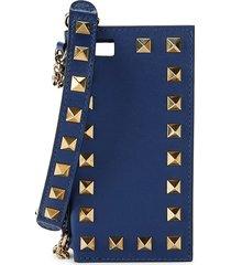valentino garavani women's rockstud leather iphone 5 case - indigo