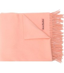 acne studios canada new fringed scarf - orange