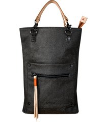 sherpani rebel coated canvas crossbody bag - black