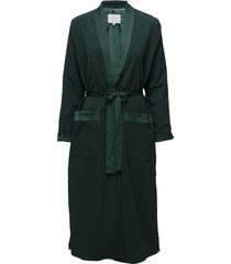 long jacket w. shawl collar dunne lange jas groen coster copenhagen