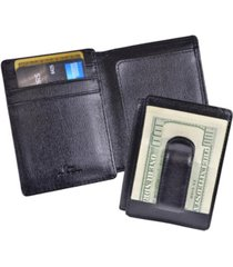 men's royce new york saffiano money clip wallet