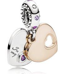 """charm pendente """"in my heart"""" (em meu coração)"""