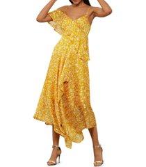 bcbgmaxazria asymmetrical ruffled dress