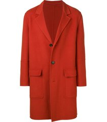 ami three buttons unlined coat - orange