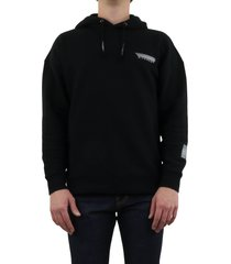 reflective tape hoodie zwart