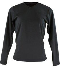 blusa térmica fiero segunda pele inverno gola v preto