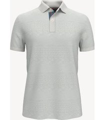 tommy hilfiger men's essential knit polo sweater white dove - m