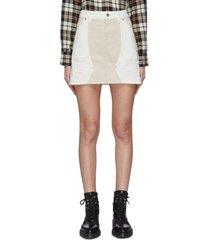 'the agatha' panelled mini skirt