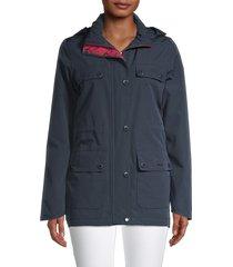 barbour women's metric waterproof jacket - navy - size 4