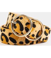 anitta leopard double circle belt - leopard