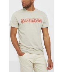 napapijri solanos t-shirts & linnen grey