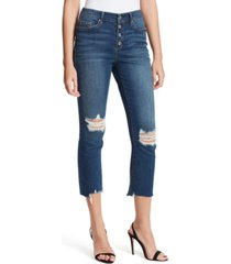 jessica simpson arrow ripped straight-leg ankle jeans