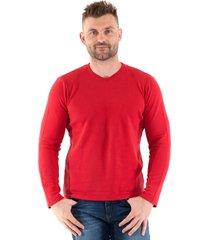 camiseta konciny básica tricô vermelho