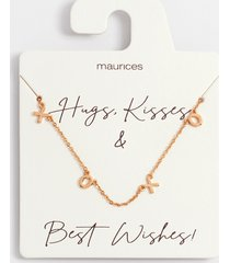 maurices womens dainty gold xoxo necklace