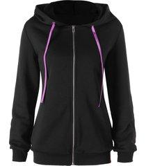 lace up drawstring zip up hoodie