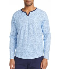 tallia men's slim fit long sleeve henley t-shirt with free matching mask