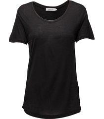 amie ss 2085 t-shirts & tops short-sleeved svart samsøe & samsøe