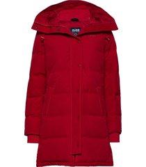 ida jacket fodrad rock röd svea