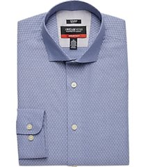 awearness kenneth cole awear-tech navy diamond slim fit dress shirt