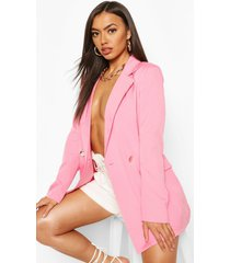 double breasted military blazer, blush