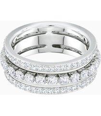 anello further, bianco, placcatura rodio
