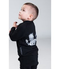 bluza bomber z haftem czarna