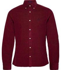 d2. corduroy slim bd overhemd casual rood gant