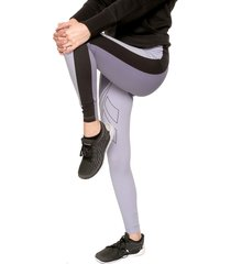 leggings lila-blanco reebok
