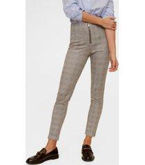 mango zip-pocket slim-fit trousers