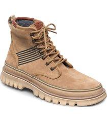 nebrada mid lace boot snörade stövlar beige gant
