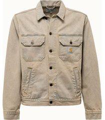 carhartt wip giacca stetson in denim beige