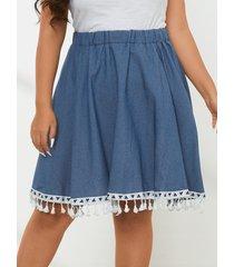 falda con tira elástica de talla grande