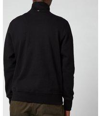 ps paul smith men's half-zip sweatshirt - black - xxl