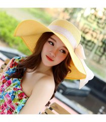sombrero de pescador de color sólido de doble cara mujer verano viento frío