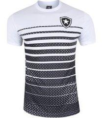 camiseta do botafogo 19 - masculina - branco/preto