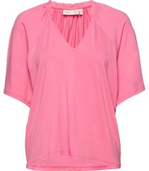abbeyiw blouse blouses short-sleeved rosa inwear