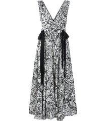 alexis strap-detail maxi dress - black