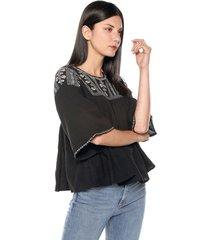 blusa negra-blanca mng