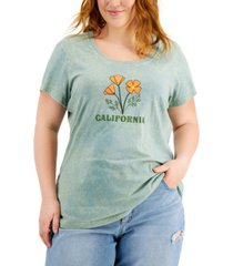 mighty fine trendy plus size graphic-print t-shirt