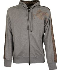 etro jersey sweatshirt with paisley details