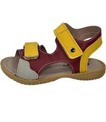 papete gotakids sandália velcro vermelho amarelo