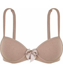 sutiã dica de lingerie básico cor: chocolate - fd05