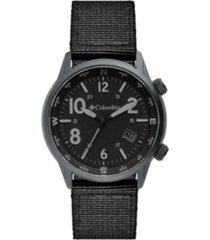 columbia men's outbacker black nylon strap watch 42mm